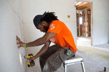 1728US-B: Cedarville students rebuilding at Bruce and Pamela Simmons home in Greenwell Springs, LA