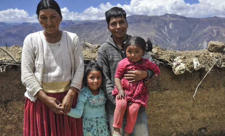 This family is benefitting from Samaritan's Purse work in Bolivia.