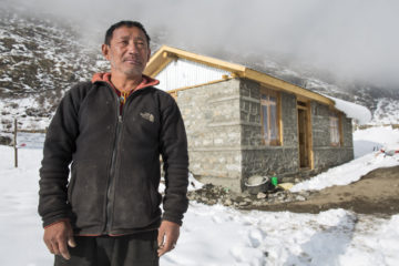 Ghyalsang is glad to be living in a safe home.