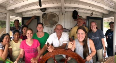 A team of doctors nurses that served on the Riverboat earlier this year.