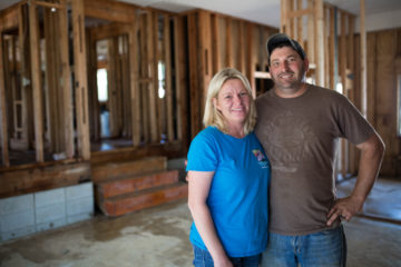 Gail and Nick Keck said that seeing the Samaritan's Purse volunteers work so hard on their home has made a lasting impression on them.