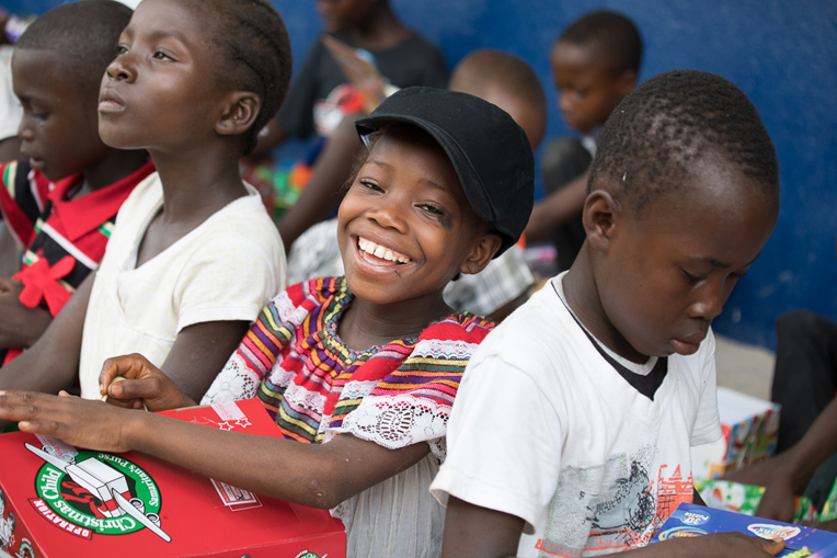 The Operation Christmas Child distribution brought many smiles to children in Liberia.
