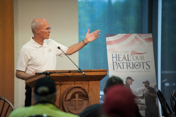 """""""Our wounded veterans are victims of war,"""" Retired Marine Brigadier General Jim Walker and executive director of Operation Heal Our Patriots told riders Saturday."""