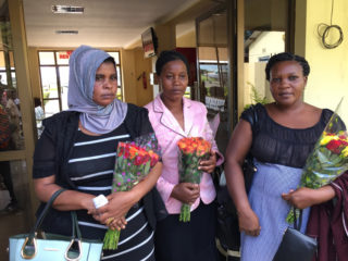 The three mothers are coming with the children to the U.S.