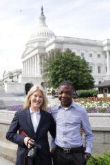 Greta Van Susteren was able to give Sampson a tour of Washington, D.C., before returning to Liberia.