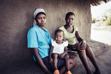 South Sudan refugee family