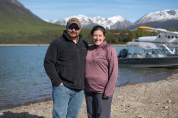 Army Sergeant First Class Jon and Natasha Thomas were among couples who rededicated their marriage in Alaska.