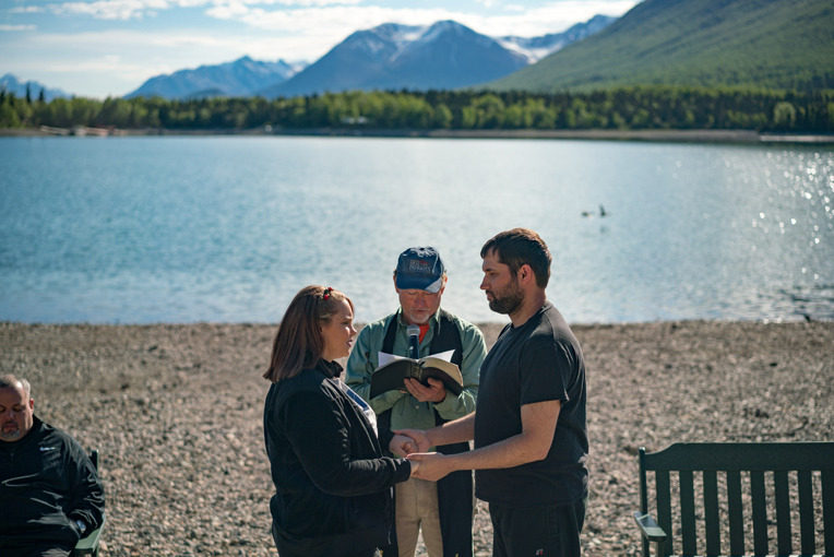 Army Specialist Steven and Cassandra Covert rededicated their marriage while in Alaska. Please pray for 150 more military couples scheduled to come to Alaska this summer for Bible-based marriage enrichment.