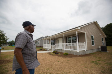 James' new home is one of five homes that Samaritan's Purse is building on the same street block.