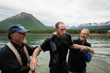 Army Sergeant Freddy Friederich was among 10 people baptized during Week Two of Operation Heal Our Patriots in Alaska.