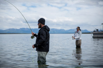 Marine Sergeant Keith Turnbow and his wife Maggy enjoy fishing together in Lake Clark. They were later baptized in the same waters.