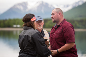 Cody and Alexis renewed their vows on a Lake Clark beach.