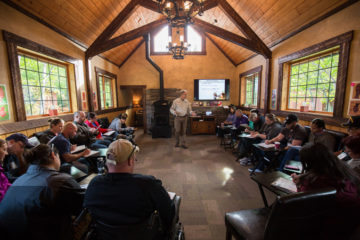 Chaplains teach daily Bible-based classes on marriage.