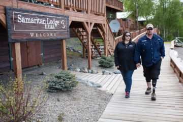 Marine Corporal Cody Jones and his wife Alexis were strengthened by their time at Samaritan Lodge Alaska.