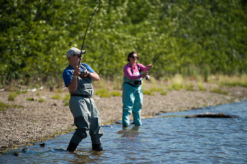 Marine Corporal Andy Florentino and his wife Amanda enjoyed  fishing together in Alaska.