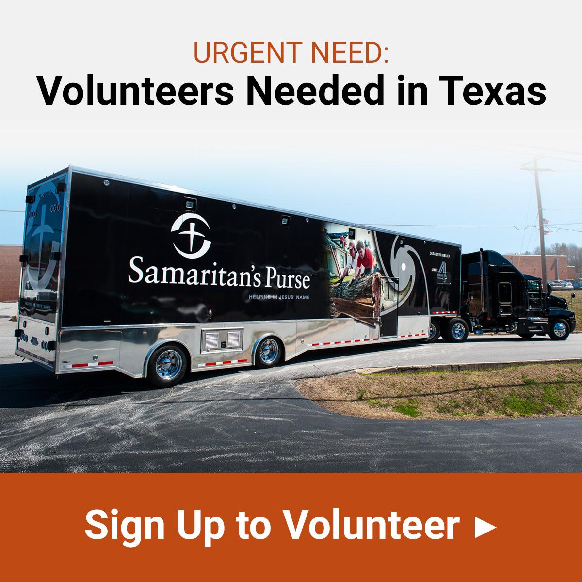 Volunteers Needed in Texas - Sign Up Now