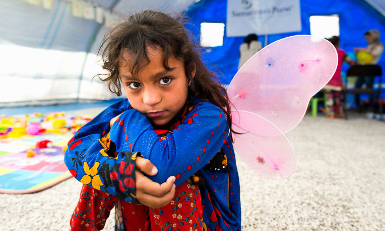 Child in the Iraq Child-Friendly Spaces Program