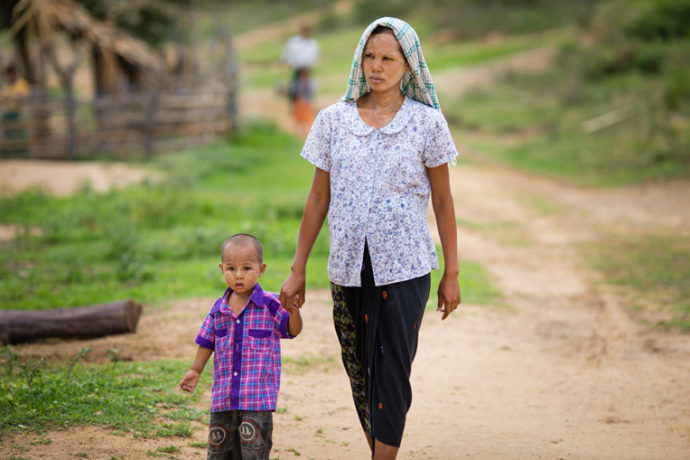 Mothers in Masan's village live more than an hour from the nearest town. Families in the impoverished community struggle to make ends meet.