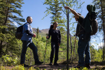 Walter and Elana enjoyed hiking in Alaska with our trained wilderness guides.
