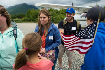 Army Staff Sergeant Luis Chavez and his wife Nancy are welcomed as they arrive at Samaritan Lodge Alaska.