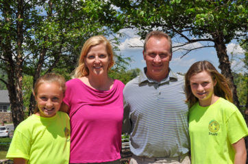 : (left to right) Tracy, Cathy, Ronnie, and Anna Musselwhite all contribute to Operation LemonAid.