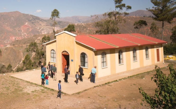 Members of a congregation in Chuma, Bolivia, attend church services in a building constructed by Samaritan's Purse.