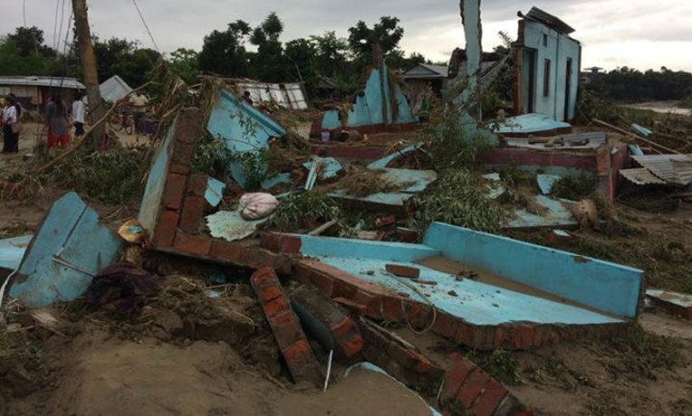 Monsoon rains have brought deadly flooding to southeastern Nepal.
