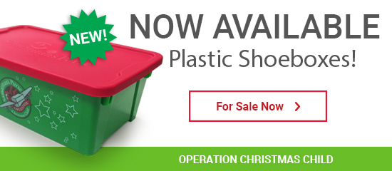 Operation Christmas Child - Get Ready to Pack with Plastic Shoeboxes! - For Sale Now