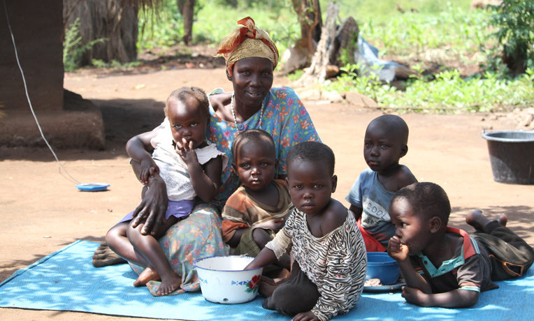 Widowed mother in South Sudan.