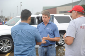 Todd Taylor, assistant manager U.S. Disaster Relief, is in Victoria, Texas.
