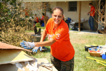 Toni Naro is hard at work with Samaritan's Purse in Texas. We're helping her mom recover after her home was damaged in the storm.