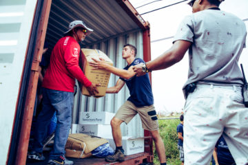 Hurricane victims desperately need shelter, food, and water.