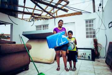 Many homes were devastated by hurricanes Irma and Maria.