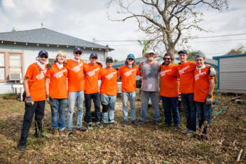 Ira and the volunteers who worked on his home.