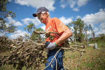Frank Whitney is 80 years old and a long-time supporter of Samaritan's Purse. This is his first time volunteering with us.