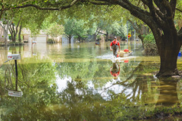 Paige and her family live in Bear Creek neighborhood, which was  flooded after Hurricane Harvey's powerful hit.
