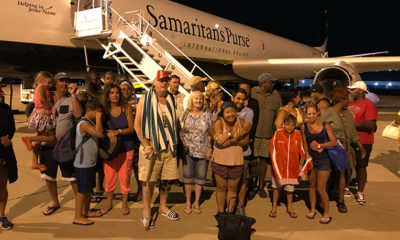 The Samaritan's Purse DC-8 was a welcome sight to storm-weary Irma survivors stranded on St. Martin.