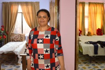 Doreena* was widowed when her husband was killed by terrorists for being a Christian. Responsible for rebuilding her home for herself and her two teenage boys, she opted to paint a majority of the walls a sparkling pink.