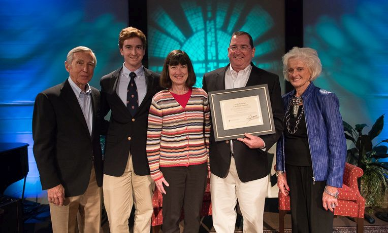 """General surgeon Greg Alty received the """"In the Footsteps of the Great Physician"""" award."""