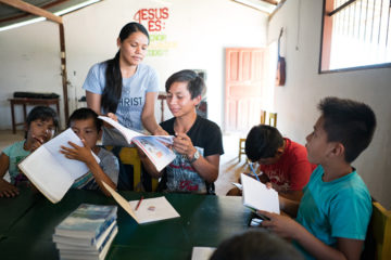 Ernesto enjoys learning about the Bible during the after-school program.