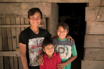 Ernesto and two of his brothers, Jose Armando, 12, and Jose Ernesto, 7, enjoy participating in their church's after-school program.