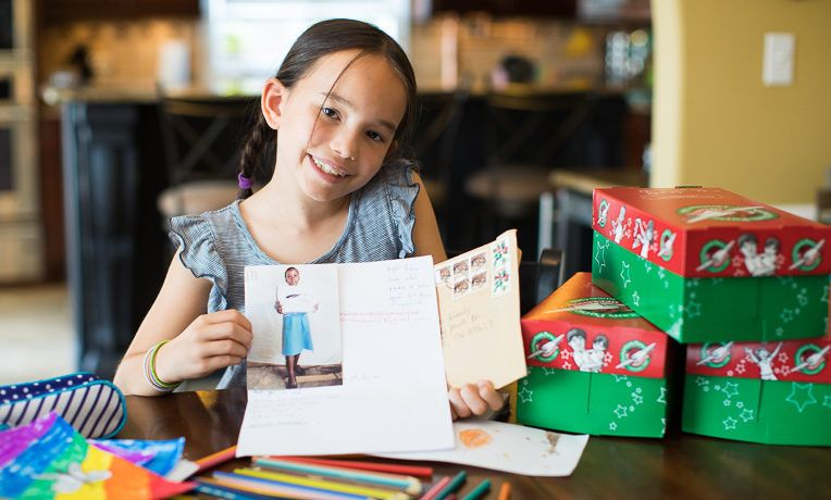 Lily Hughes received a letter from a shoebox recipient in Uganda. That letter encouraged Lily on her journey to make more shoebox gifts.