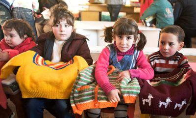 These children in Georgia were displaced by the conflict with Russia. They received Lamb's Wool sweaters during an Operation Christmas Child distribution in 2008.