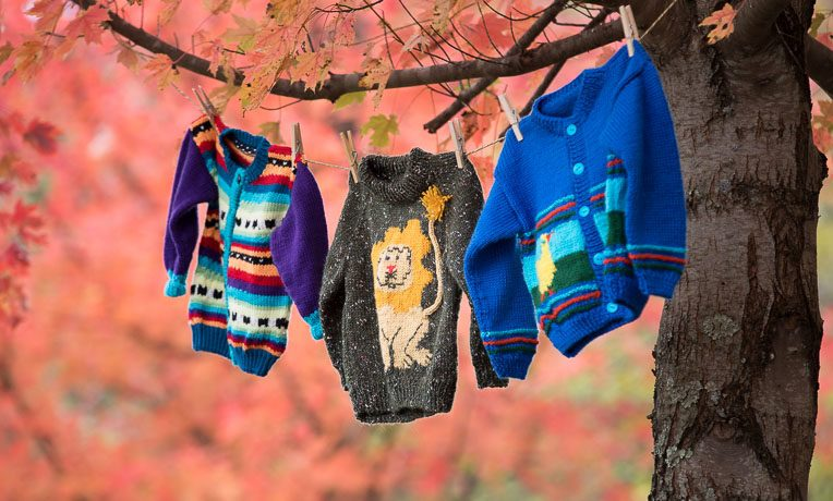 Knitters from more than 25 states have participated in Lamb's Wool and made colorful sweaters for children in need. These sweaters are bringing much joy to children in need who receive the sweaters inside their Operation Christmas Child shoebox gift.