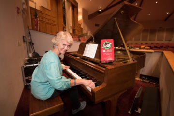 Becky Livingston has played the piano at First Baptist Rockport for 30 years.
