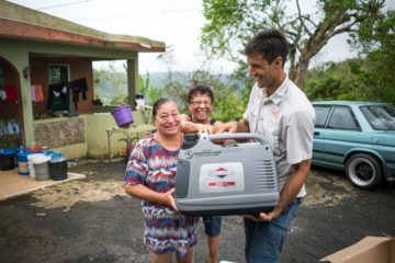 Blanca Judith Colon received a generator from Samaritan's Purse to help her care for her disabled son.