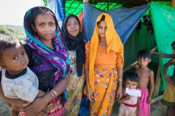 More than 500,000 Rohingya are living in a cramped refugee camp.