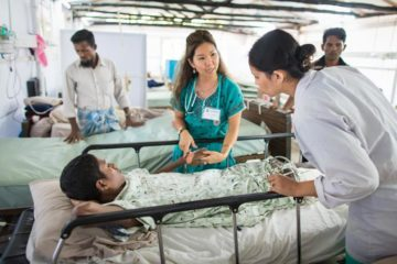 Many Rohingya are sick and injured and need medical attention.