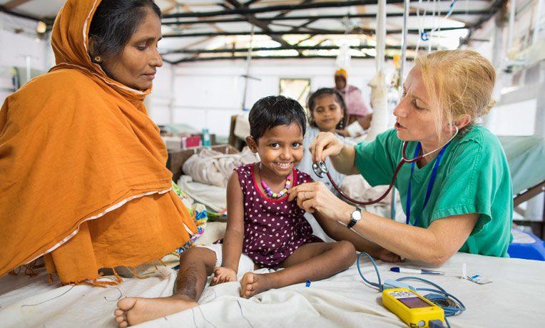 Samaritan's Purse is providing medical care to Rohingya refugees.