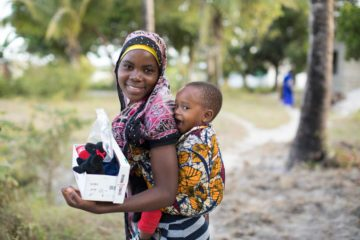 Shoebox gifts can bless a child and her young mother with essential items, fun items, and the Gospel of Jesus Christ.